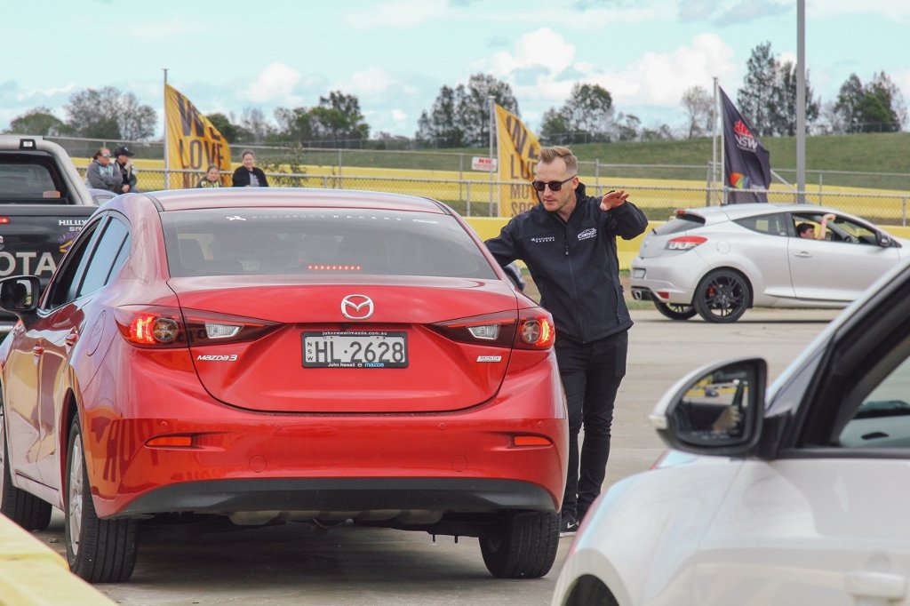 Jayden first time driving with Ricciardo's Racers