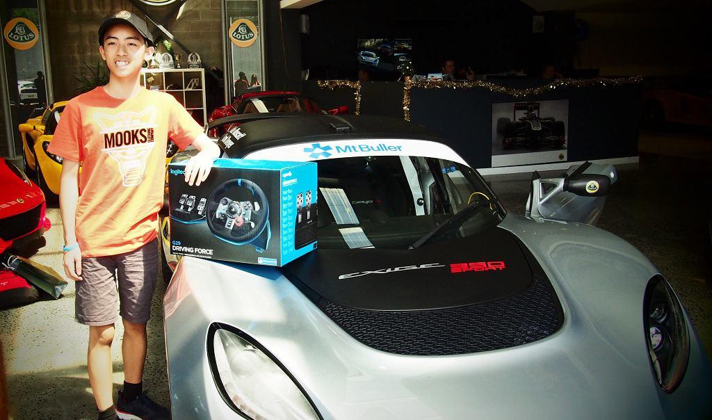 Jayden Huynh Receives Logitech G29 Steering Wheel